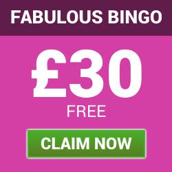 fabulous bingo | £30 welcome bonus | free bingo