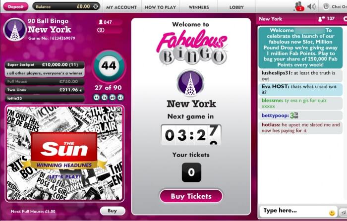 fabulous bingo | free bingo | online slots