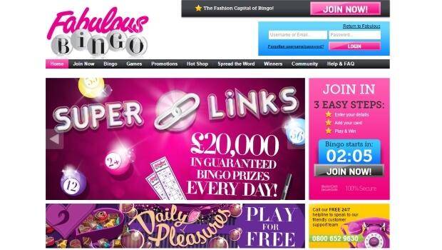 fabulous bingo | free bingo | online slots | homepage