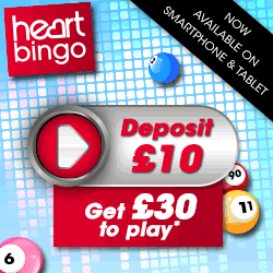 heart bingo | signup offer | free bingo