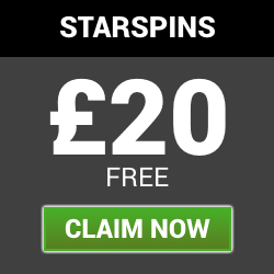 starspins | £20 welcone bonus | free slots