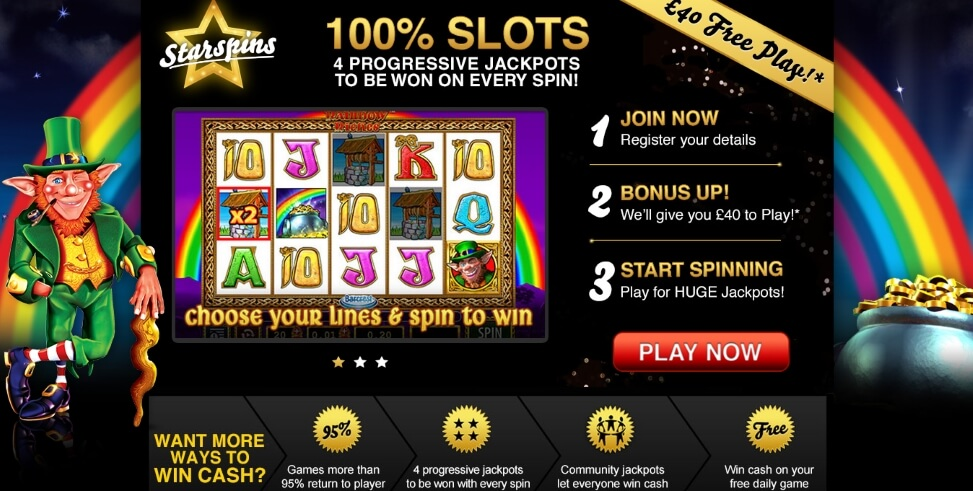 starspins-rainbow-riches-40-pound-free-play