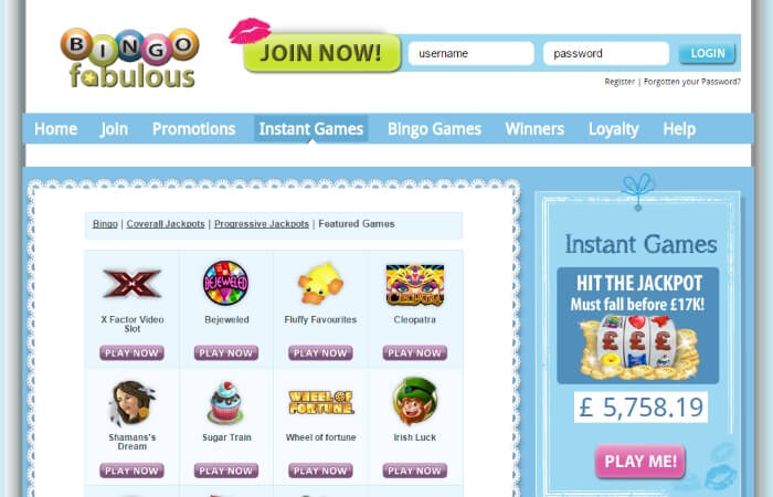 bingo fabulous | online slots | free bingo