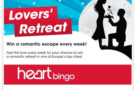 win a romantic retreat | heart bingo |free bingo