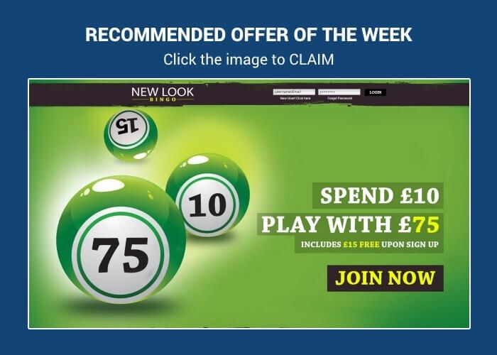 New Look Bingo - Deposit £10 Play with £75