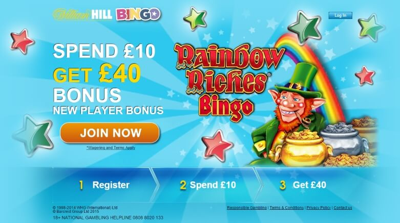 william hill bingo | play 10 get 40 | free bingo