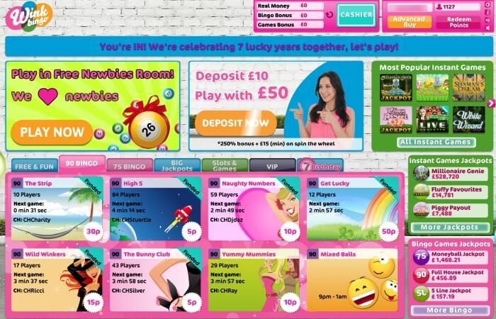 wink bingo | lobby | free bingo