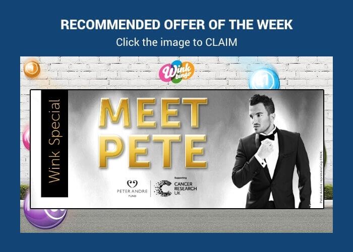 Wink Bingo | WIN Tickets to Meet Mr Peter André