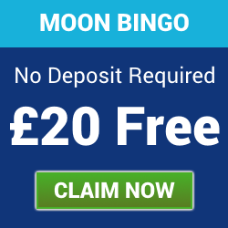 No Deposit Bonus – £20 Free at Moon Bingo