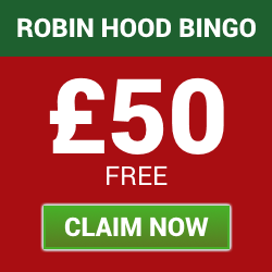 Claim a £50 Welcome Bonus with Robin Hood Bingo