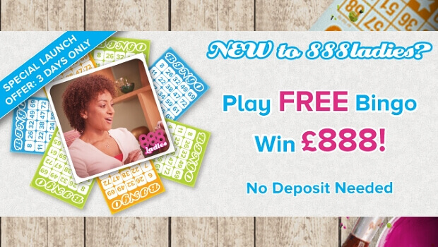 £888 of Free Bingo with No Deposit Needed