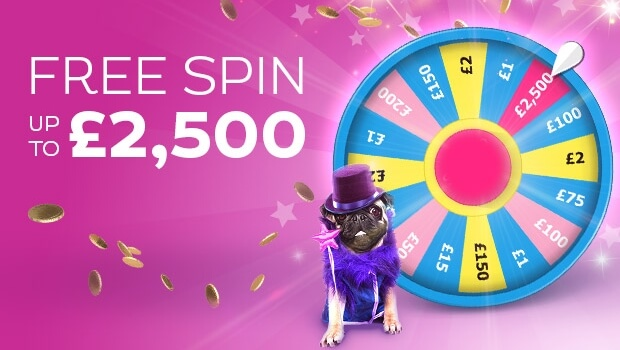 WIN up to £2,500 with a FREE Spin of the Wheel at Gossip Bingo