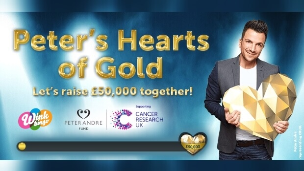 Wink Bingo Peter André Hearts of Gold