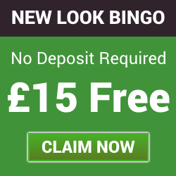 No Deposit Bonus – Get £15 Free with New Look Bingo