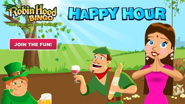It's Happy Hour Twice a Day at Robin Hood Bingo
