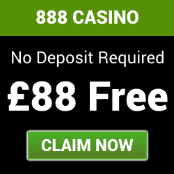 888 Casino - Get £88 FREE with no deposit needed