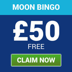 Moon Bingo | Deposit £10 Play with £60