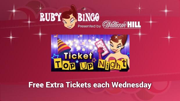 Ruby Bingo Ticket Top Up Night