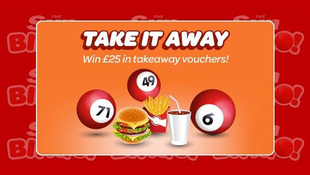Sun Bingo | WIN £25 in Takeaway Vouchers Each Day