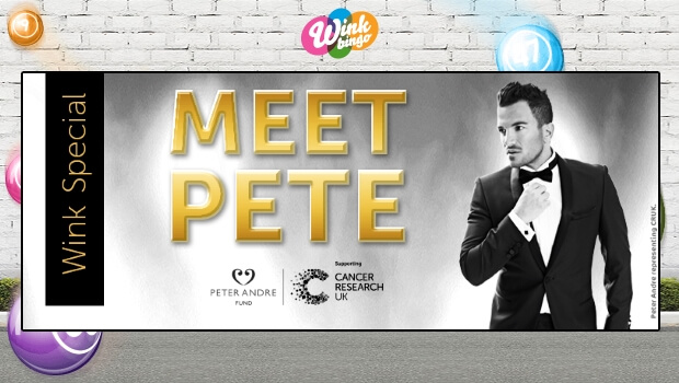 Wink Bingo | WIN Tickets to Meet Mr Peter André