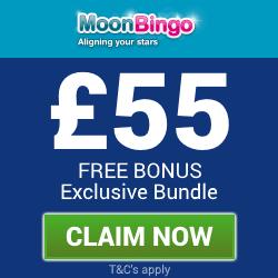 Moon Bingo | £55 free bingo bonus