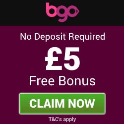BGO Bingo | £5 Free Bingo Bonus - No Deposit Bingo