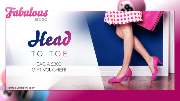 WIN a £300 Shoe Lover's Gift Package with Fabulous Bingo