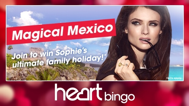 Heart Bingo | WIN a Magical Holiday to Mexico for 4 People