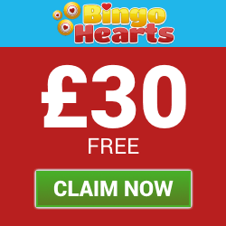 Deposit £10 and Play with £40 at Bingo Hearts