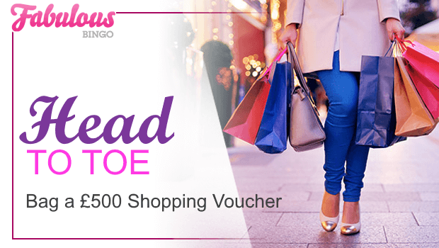 WIN a £500 Debenhams Shopping Voucher at Fabulous Bingo