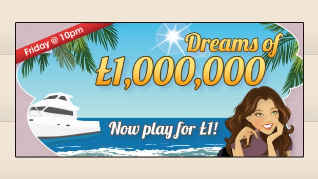 WIN £1 Million for just £1 at Posh Bingo