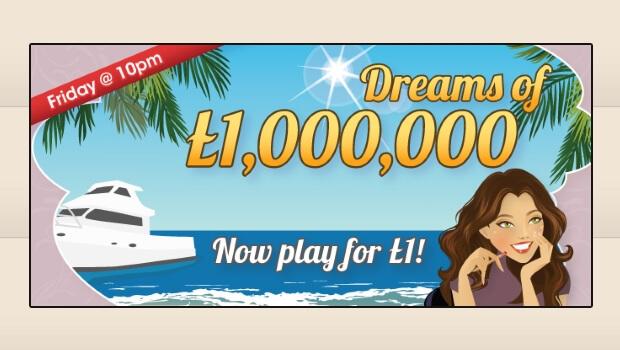WIN £1 Million for just £1 at Posh Bingo