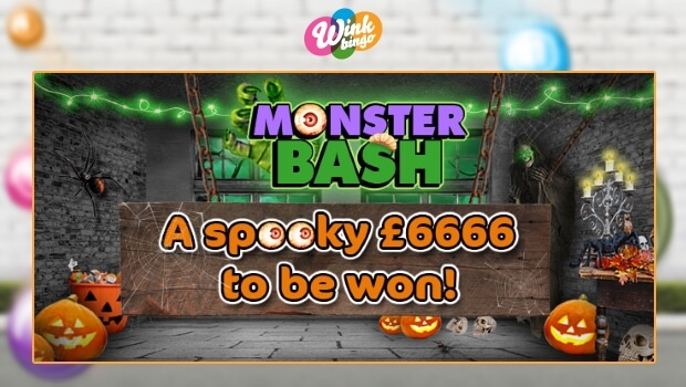 £6,666 Monster Bash Games at Wink Bingo