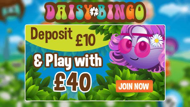 Get a £30 Free Bonus at Daisy Bingo