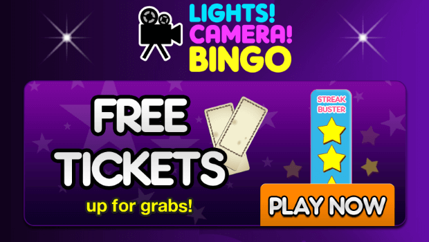 Lights Camera Bingo | FREE Tickets with Streak Buster