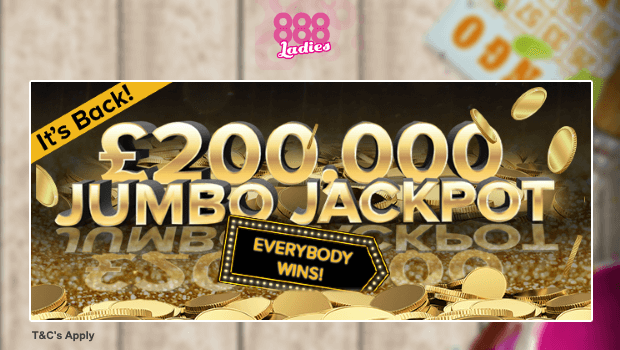 888Ladies | £200K Junbo Jackpot Bingo Game