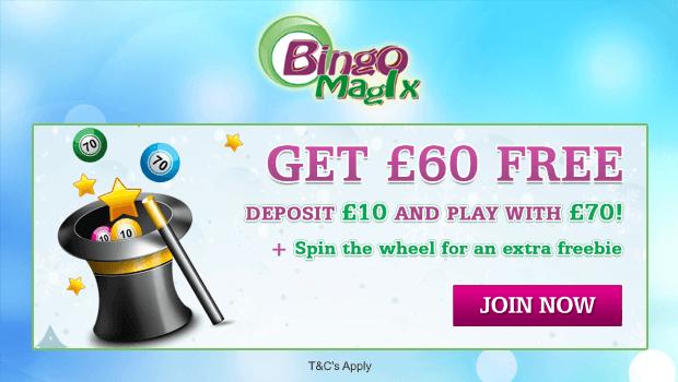 BingoMagix | Get £60 Free