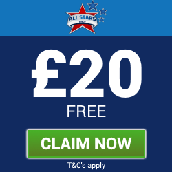 All Stars Bingo | Claim a £20 Free Bingo Bonus at the UK online bingo website