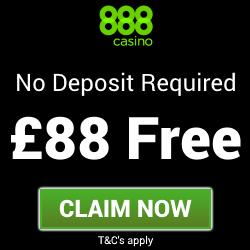 888 Casino   £88 Free Casino Bonus - no deposit needed