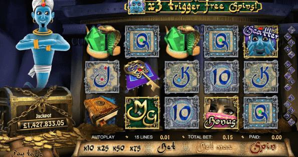 Millionaire Genie   progressive Jackpot Slot