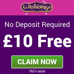 Wish Bingo   £10 Free Bingo Bonus