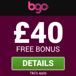 BGO Bingo | Get a £40 free bingo bonus