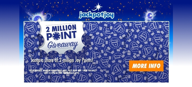 Jackpotjoy Bingo | 2 Millions Joy Points Giveaway