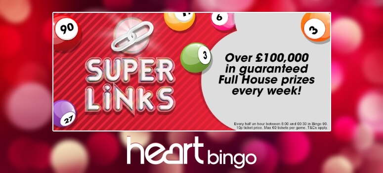 Heart Bingo | £100,000 Superlinks