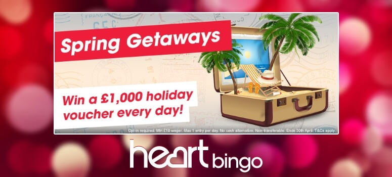 Heart Bingo | Win a £1000 Holiday Daily