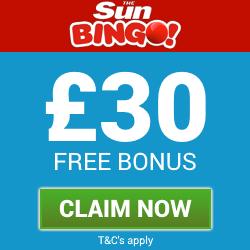 SunBingo | Get £30 free bingo bonus