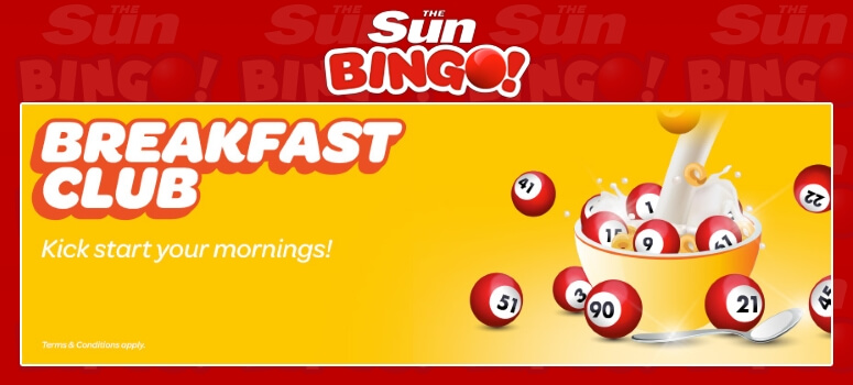 Sun Bingo | Win great prizes in the breakfast club