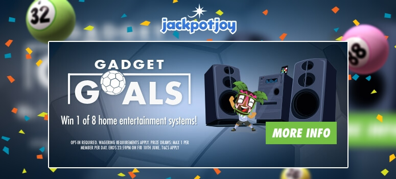 JackpotjoyBingo | Win a home entertainment system