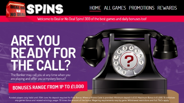 Deal or No Deal Spins | £100 free bonus plus 100 Free Spins
