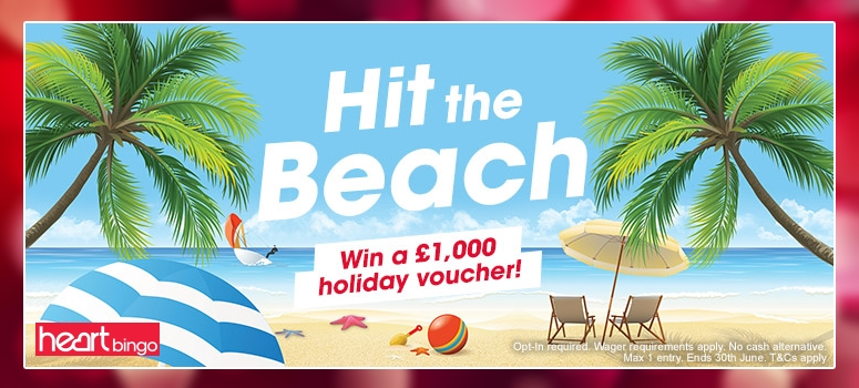 HeartBingo | Win a £1,000 Holiday Voucher